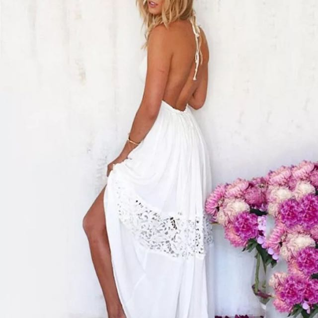 White Lace Maxi Summer dress