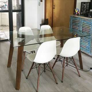 Glass Dining Table (Delivery Free)