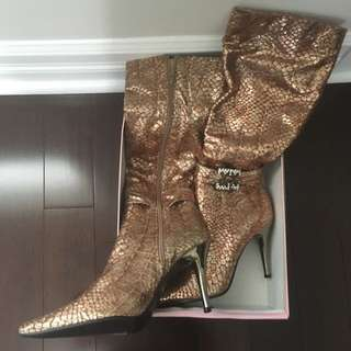 Gold Dressy Boots