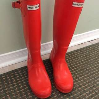 Orange Hunter Boots Size 7US/38