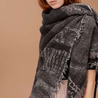 Aritzia Haus Party Blanket Scarf - Retails For $85