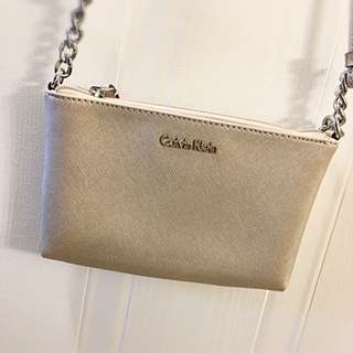 Calvin Klein Gold Cross Body Bag