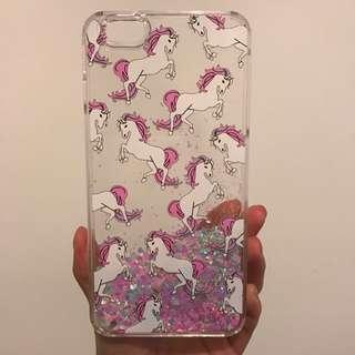 iPhone 6+/6s+ Waterfall Glitter Unicorn Case