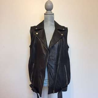 Zara Genuine Leather Vest - Medium
