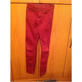 Bdg High Waisted Burgundy Jeans