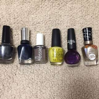 Brand Name Nail Polish 5$ Per Bottle .