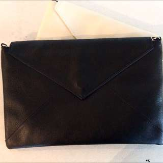 ♡Black And White Envelope Clutch