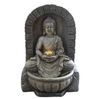 BUDDHA WITH LOTUS AND LED LIGHT OF PEACE WATER FOUNTAIN