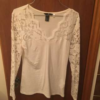 H&M Lace Long Sleeve Shirt