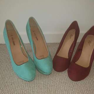 More A Purple Maroon Colour In Person Both Size 8 (What's Left Of My Other Picture )