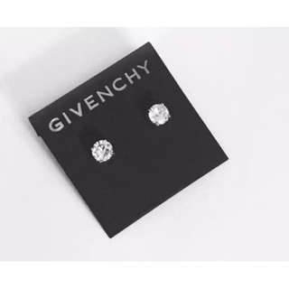 Givenchy Silver Crystal Stud Earrings