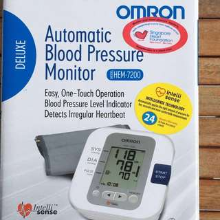 Omron Blood Pressure Monitor HEM-7200