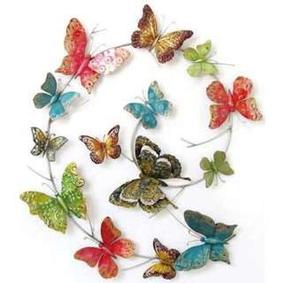 BUTTERFLY STUNNING 3D FEATURE WALL ART LARGE METAL WALL HANGING