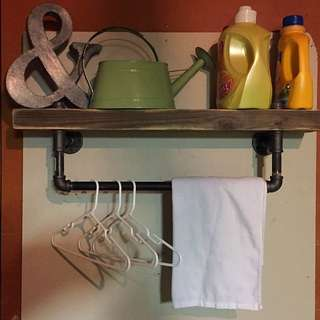 Industrial Style Towel Rack