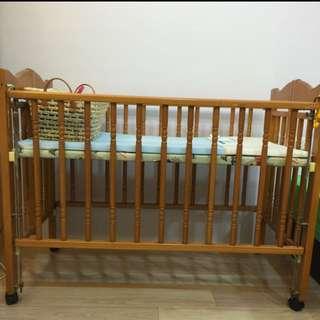 👶二手木頭嬰兒床