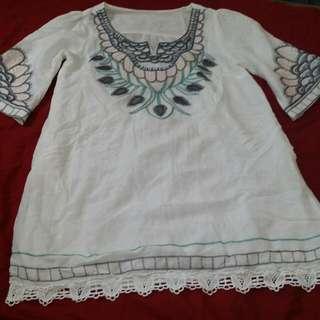 Enbroidery Mini Dress