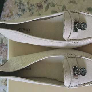 Michael Kors White Loafers