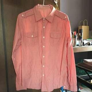 粉色 襯衫