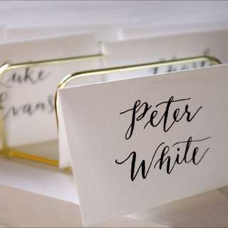 Wedding Calligraphy Place Cards / Escort Cards