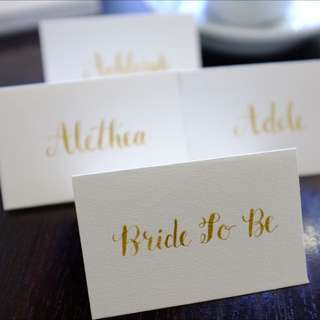 Gold Calligraphy Place Cards / Wedding Place Cards / Escort Cards