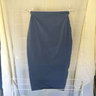 Kookai Navy Blue Bodycon Skirt