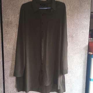 (PRELOVED) UK18 NEW LOOK Sheer Shirt