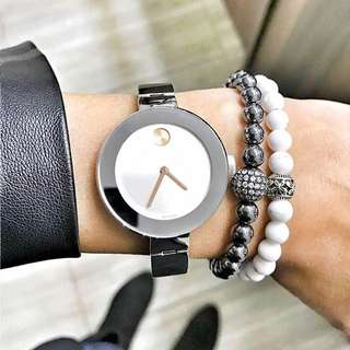 BRAND NEW MOVADO Bold Small Stainless Steel Watch For Women