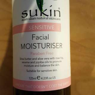 Sukin sensitive facial moisturiser