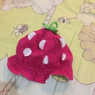 二手/baby草莓帽