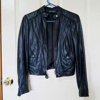 ARMANI EXCHANGE 100% Leather Jacket XS 6 8