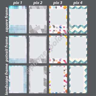 Polaroid Printing New Frame Design Pattern Size