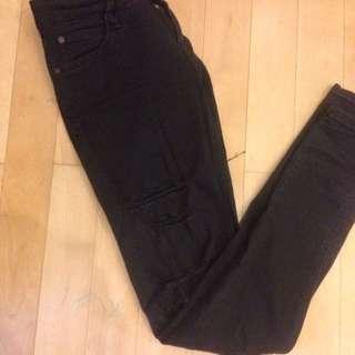 Mango Black Ripped Jeans