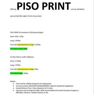 ByPISO PRINT FOR DELIVERY