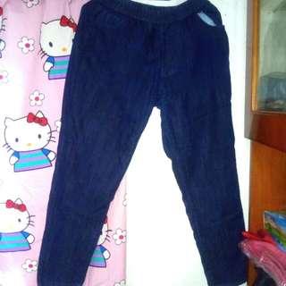 Celana Karet Semi Jeans