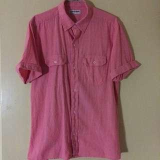 美國品牌 American Apparel 美國製粉紅色襯衫