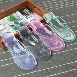 [PO] Transparent Jelly Slippers