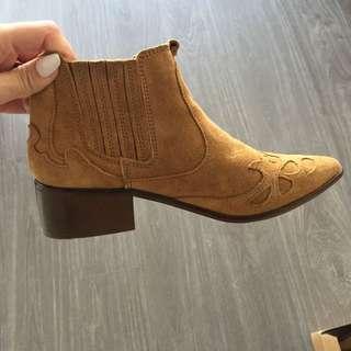 Lightly Worn Zara Western Boots
