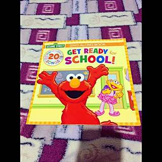 Sesame Street Sing-Along Book Get Resdy for School