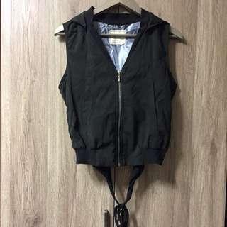 韓設計款背心外套