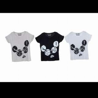 MURUA×Lauren Moshi白色寬版T-Shirts