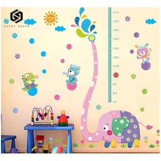 【免運費】#362兒童房牆壁寶寶裝飾牆紙貼畫牆貼自粘客廳臥室測量身高貼紙可移除2