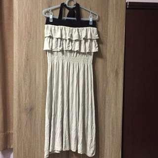 女神範平口繞脖長裙 #一百元洋裝