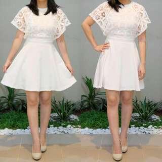 White Dress By Something Borrowed