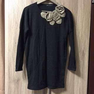 氣質造形長版毛衣