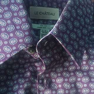 $15 Le Chateau Shirt Tailored Fit Size 15-151/2.  XS