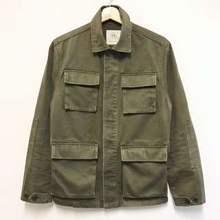 VISVIM Style 100% Cotton Military Olive Green Jacket