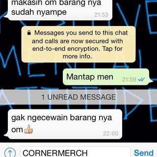 Testimonial Cornermerch! We Are Trusted Online Shop👍🏻