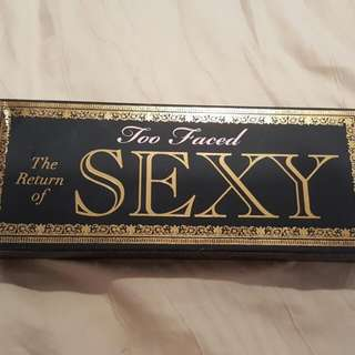 too faced too sexy eye palette