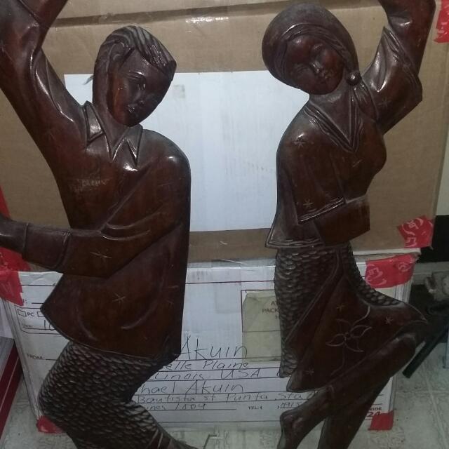 2 Dancing Couples Wood