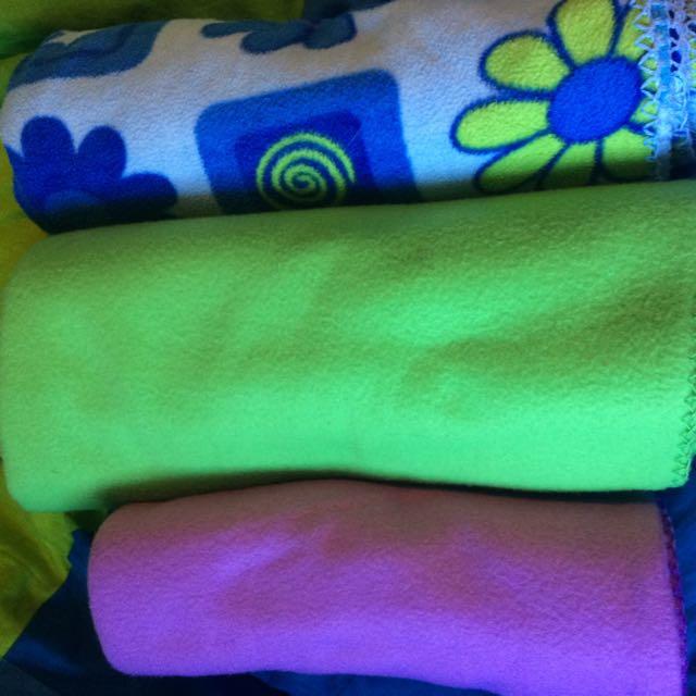 3 Fleece Blankets